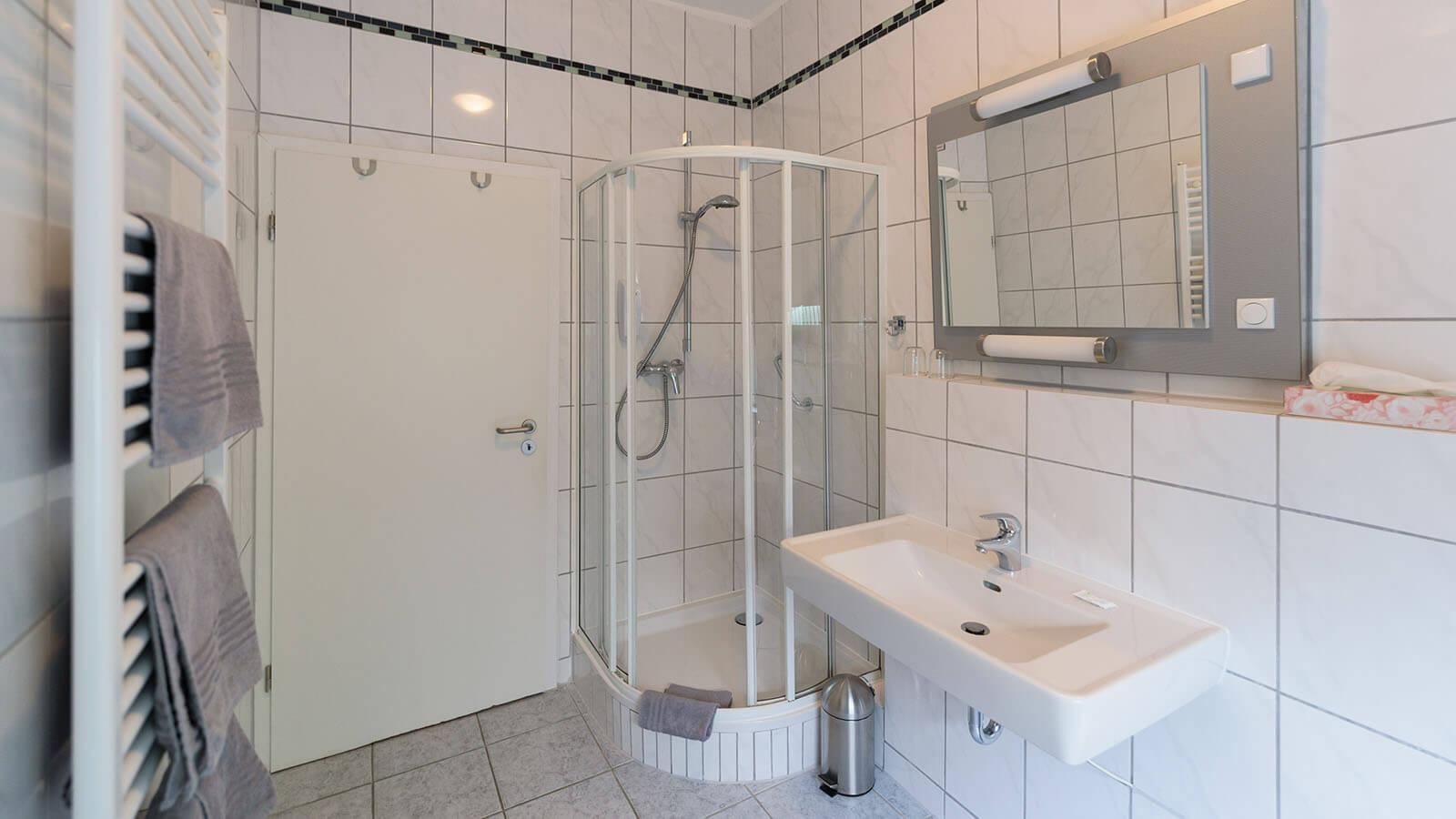 Badezimmer im Hotel Goethe Haus