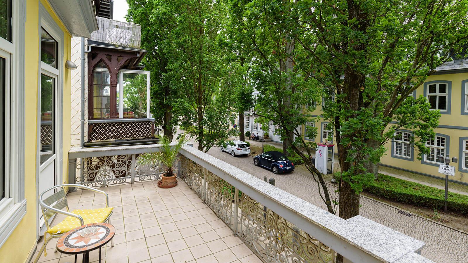 Balkon im Hotel Goethe Haus