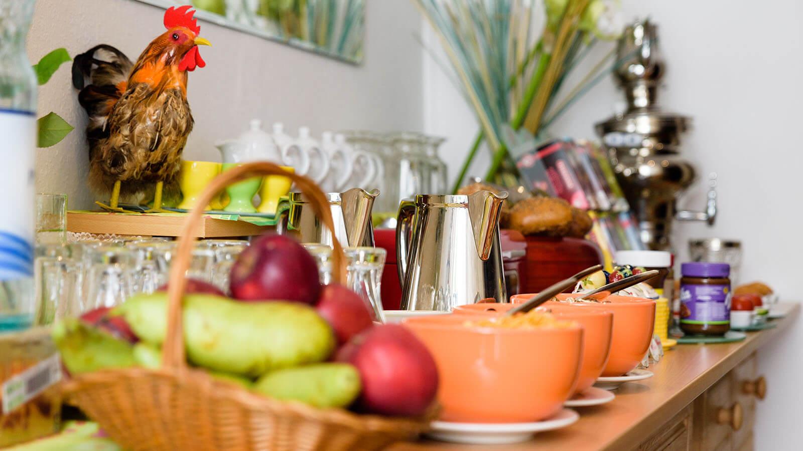 Frühstücksbuffet im Hotel Goethe Haus