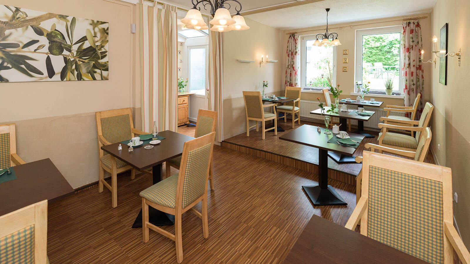 Frühstücksraum im Hotel Goethe Haus